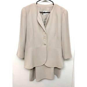Armani Collezioni Cream Beige Skirt Suit Set 14 16